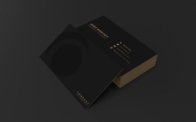 Modelo de maquete de cartão moderno. design elegante