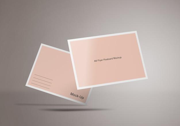 Modelo de maquete de cartão postal