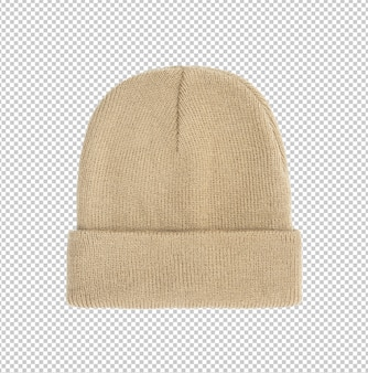 Modelo de maquete de chapéu gorro bage