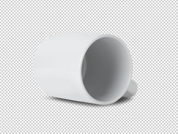 Modelo de maquete de copo caneca branca para seu projeto.