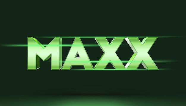 Modelo de maquete de efeito de estilo de texto 3d maxx