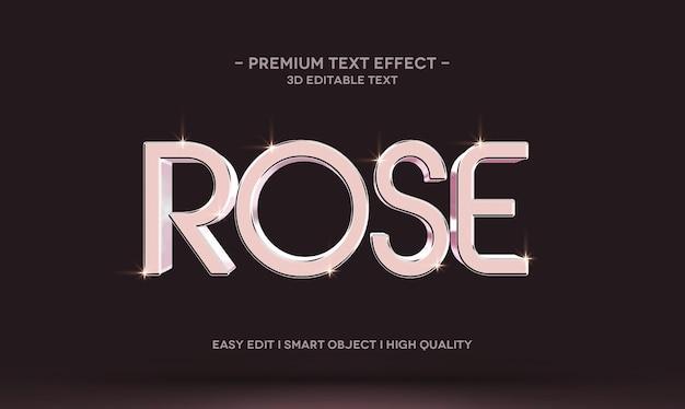 Modelo de maquete de efeito de texto 3d rose