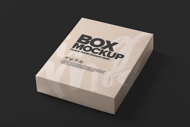 Modelo de maquete de embalagem de caixa