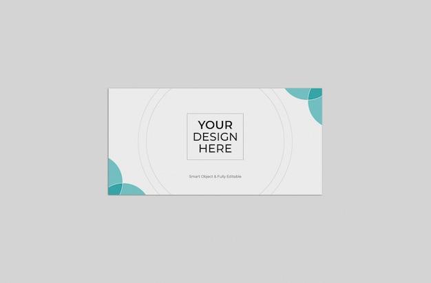 Modelo de maquete de envelope de negócios