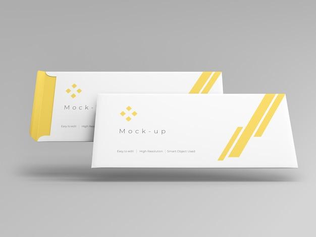 Modelo de maquete de envelope flutuante
