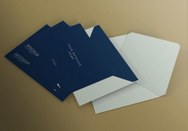 Modelo de maquete de envelope realista minimalista
