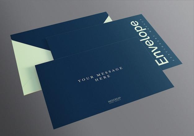 Modelo de maquete de envelope realista