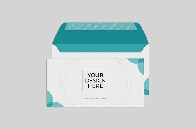 Modelo de maquete de envelope