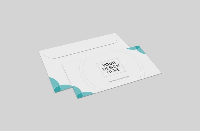 modelo de maquete de envelopes