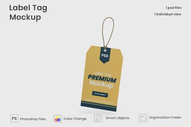 Modelo de maquete de etiqueta de roupas psd premium