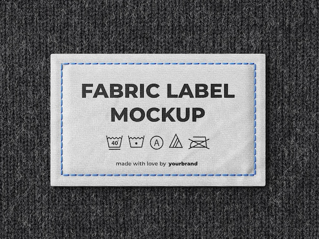 Modelo de maquete de etiqueta de tecido