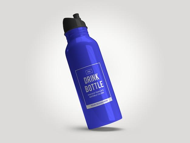 Modelo de maquete de frasco de garrafa de bebida isolada