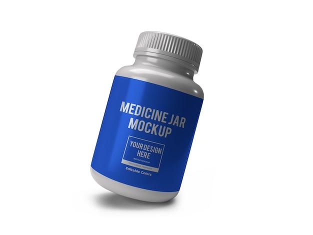 Modelo de maquete de frasco de remédio realista isolado