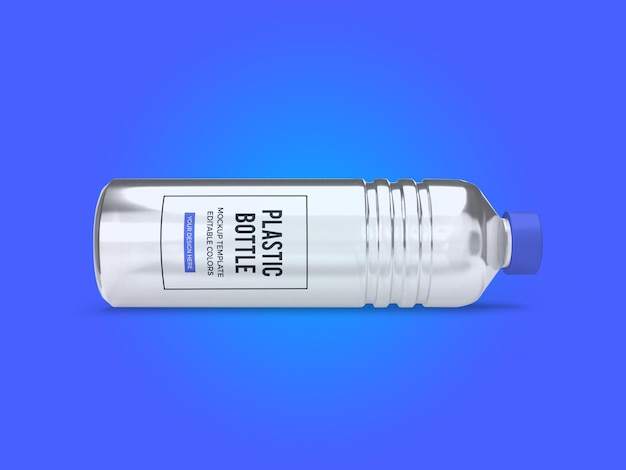 Modelo de maquete de garrafa de água mineral transparente isolado