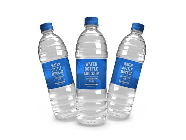 Modelo de maquete de garrafa de água realista isolado