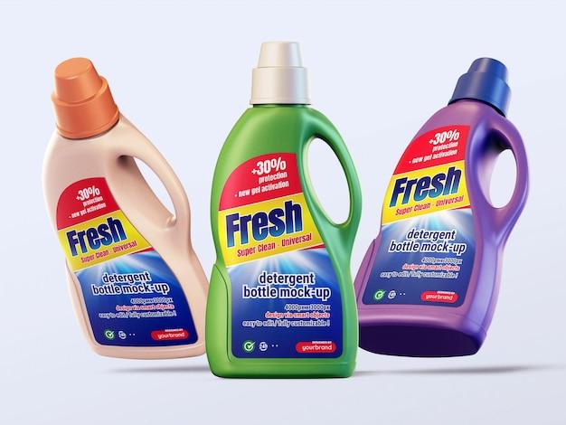 Modelo de maquete de garrafa de detergente