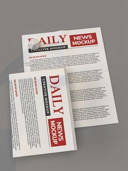 Modelo de maquete de jornal diário
