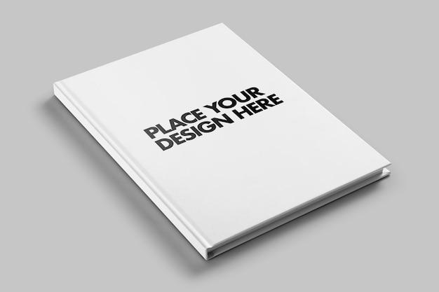 Modelo de maquete de livro de capa dura revista