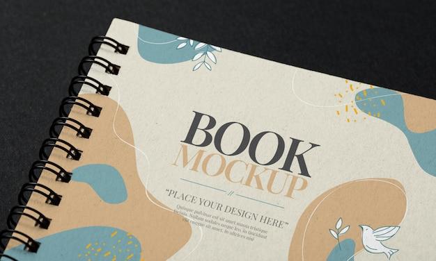 Modelo de maquete de livro de capa