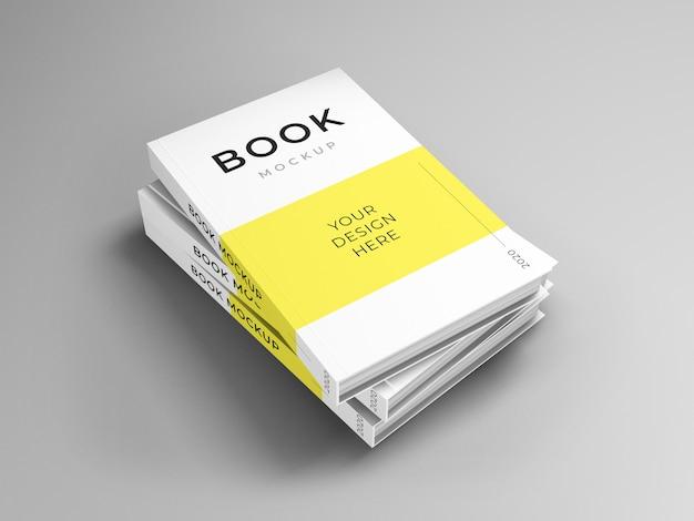 Modelo de maquete de livro