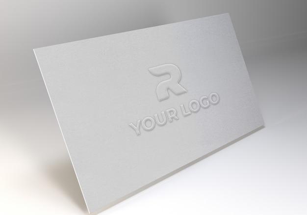 Modelo de maquete de logotipo de papel de arte em relevo