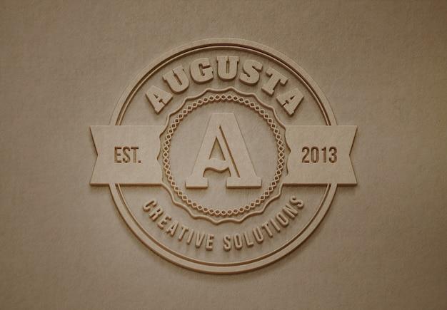 Modelo de maquete de logotipo ou texto. vista frontal na parede