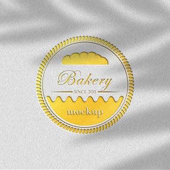Modelo de maquete de logotipo
