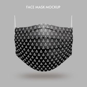 Modelo de maquete de máscara facial