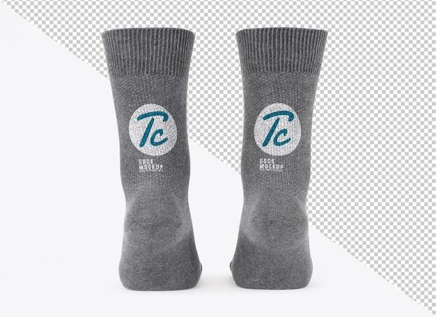 Modelo de maquete de meias cinza em branco para seu projeto