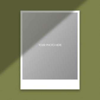 Modelo de maquete de moldura de foto polaroid