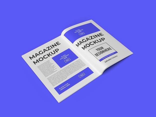 Modelo de maquete de papel de livro de revista psd isolado
