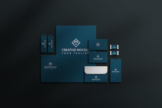 Modelo de maquete de papel de maquete estacionário psd premium