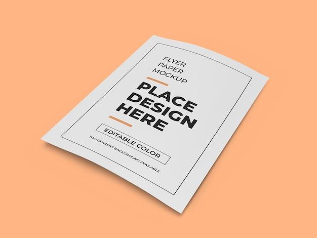 Modelo de maquete de papel de panfleto realista isolado