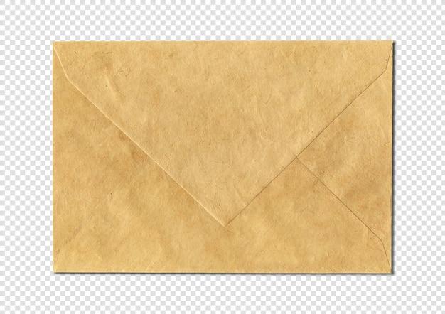 Modelo de maquete de papel marrom enveloppe