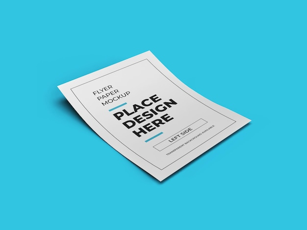Modelo de maquete de papel para panfleto