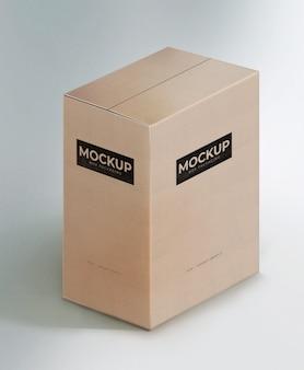 Modelo de maquete de papelão de caixa