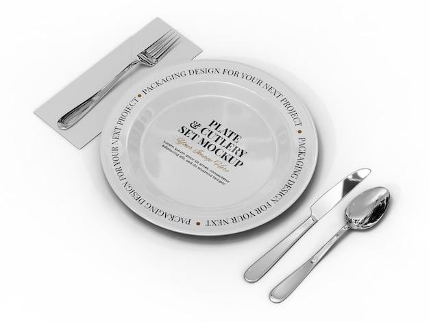 Modelo de maquete de prato de restaurante