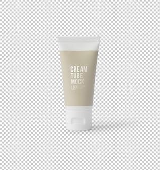 Modelo de maquete de produto de tubo ou gel de creme de plástico branco para seu projeto.