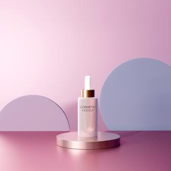 Modelo de maquete de recipiente cosmético de soro facial