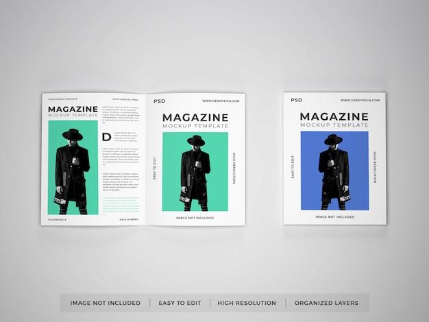 Modelo de maquete de revista realista