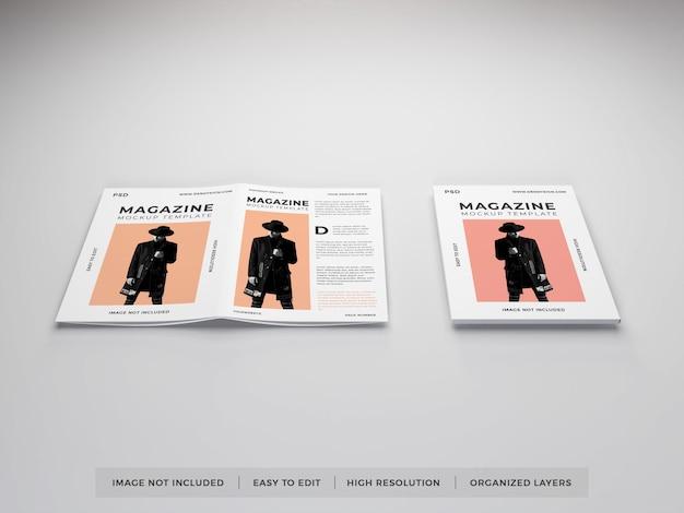 Modelo de maquete de revista realista Psd Premium