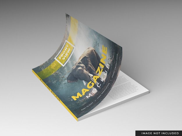 Modelo de maquete de revista
