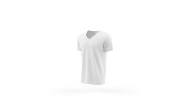 Modelo de maquete de t-shirt branca isolado, vista frontal