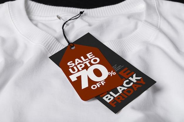 Modelo de maquete de tag de etiqueta para black friday