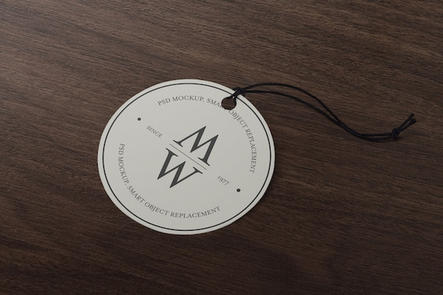 Modelo de maquete de tag de rótulo