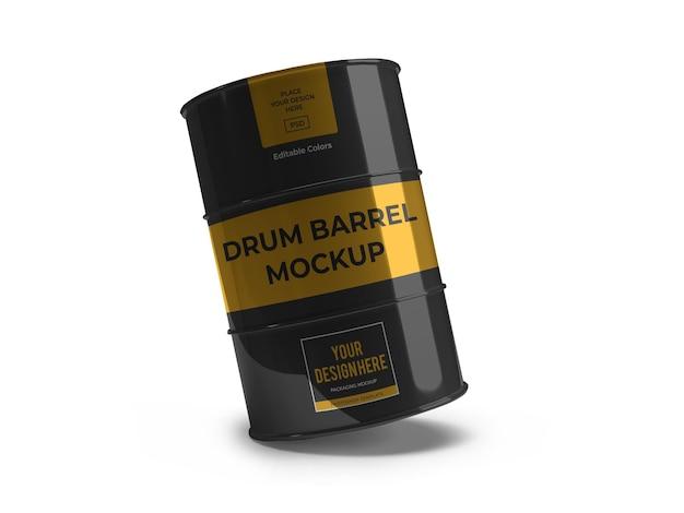 Modelo de maquete de tambor de tambor isolado