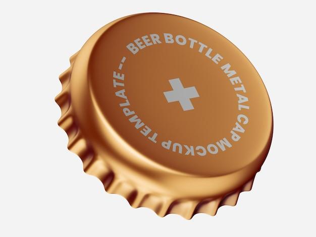 Modelo de maquete de tampa de cerveja