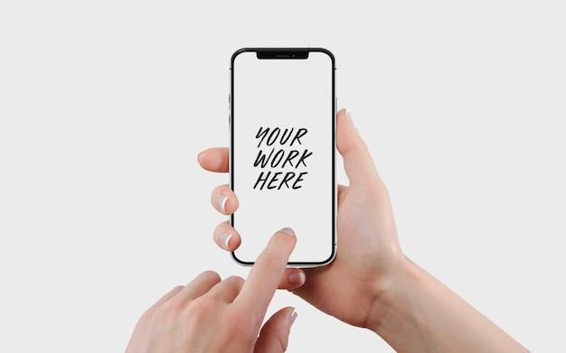 Modelo de maquete de tela do telefone móvel