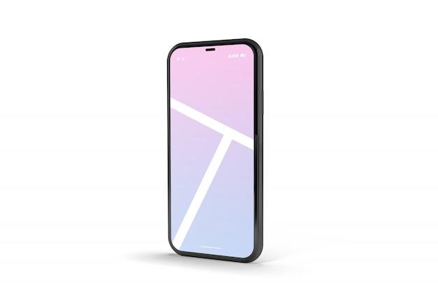 Modelo de maquete de tela realista do telefone móvel
