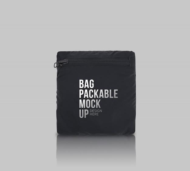 Modelo de maquete empacotável de saco